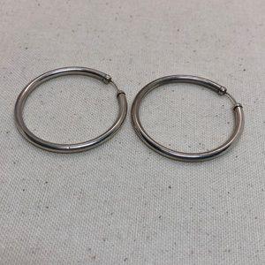 Jewelry - Vintage sterling silver hoop earrings